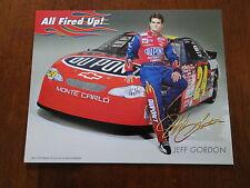 2001 Nascar Jeff Gordon Hero Fan Card