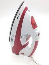 Fer a repasser avec Vapeur verticale Semelle inox Rouge 2000 watts Pritech