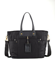 Marc by Marc Jacobs Nylon Eliz-a-baby Black DiaperBag Handbag $348 New