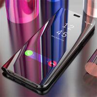 For Xiaomi Mi 9T 9 SE 8 Lite A2 Max 3 Smart Mirror Leather Flip Stand Case Cover