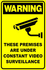 (2 X SIGNS) - CCTV VIDEO SURVEILLANCE SECURITY SIGN - 300 X 200MM - WARNING SIGN
