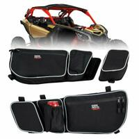 UTV Side Door Bags w/ Removable Knee Pad For Can Am Maverick X3 Max 2017-2021