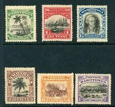 Rarotonga 1920 definitives complete SG 70-75 MM
