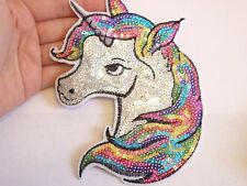 extra large sequin patches unicorn patch applique iron on sew on motif badge UK