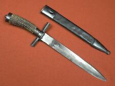German Germany WW1 WWI Hunting Fighting Knife Dagger w/ Scabbard