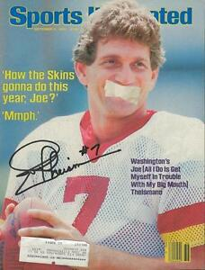 Joe Theismann Signed Full 1984 Sports Illustrated Magazine Washington