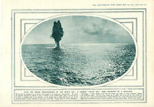 1915 German Death Egg Mine Destroyed Ambulance-barge Red Cross At Sea