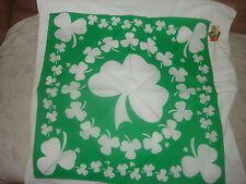 GREEN SHAMROCK HEAD BANDANA SCARF WRAP DURAG ST PATRICKS DAY PATTYS FLAG IRISH