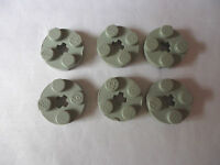LEGO  2 x 2 LIGHT  GREY ROUND PLATE WITH AXLE HOLE x 6 PART 4032