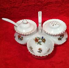 Antique Czech Open Salt Pepper Condiment Set c.1918