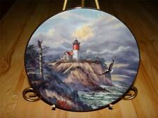 """""""Cliffside Star"""" Guardians Of The Coasts by Rudi Reichardt Lighthouse Plate"""