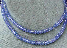 ALL THAT GLITTERS 3 TANZANITE Faceted Roundel BEADS 009713