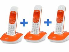 KIT 3 TELEFONI CORDLESS INTERCOMUNICANTI BRONDI NICE AR