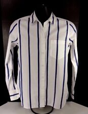 J.CREW BOYS SHIRT SIZE M BUTTON DOWN LONG SLEEVE COTTON STRIPED BLUE AND WHITE