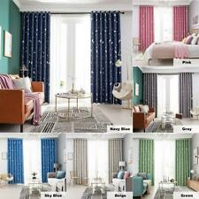 Star Moon Print Bedroom Blackout Curtains Living Room Shading Window Blinds