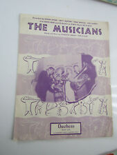 Vintage Sheet Music – The Musicians - Dinah Shore - Henri Rene