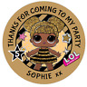 48 Personalised Party Bag Stickers LOL SURPRISE QUEEN BEE Sweet Cone Labels 40mm