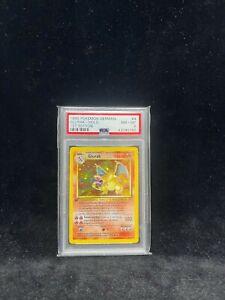 1999 Pokemon German 4/102 Charizard Glurak 1st Edition PSA 8