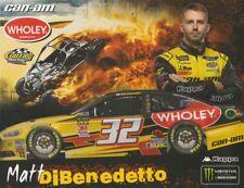 2018 Matt DiBenedetto Wholey Can Am Ford Fusion NASCAR MENCS postcard