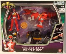 Mighty Morphin' Power Rangers 2010 Zord Vehicle Battle Set Red & Black Putty MIB