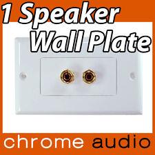 1 Speaker Banana Socket Wall Plate