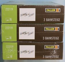 Neues AngebotFaller 222119 x 3, Spur N, Bausatz Bahnsteige (insgesamt 9 Stück