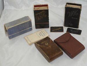 3 Vest Pocket Kodak Boxes and Two Cases