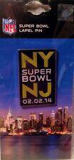 Super Bowl XLVIII NY NJ Hat Pin Seattle Seahawks vs Denver Broncos New York
