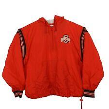 Champion NCAA Ohio State Buckeyes Half Zip Hooded Pullover Windbreaker Jacket M