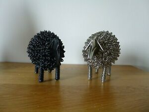 2 wire sheep ornaments