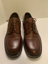 """Alfani Italy """"Kennedy"""" Brown Leather Lace-Up Split Toe Oxford Dress Shoes 8.5 M"""