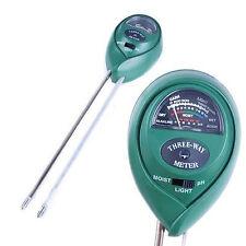 3-in-1 PH Meter Tester Erde Licht Feuchtigkeit Messgerät Boden Wassertester tool
