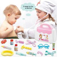 Kids Children Role Play Games Doctor Dentist Nurse Wooden Toy Set Medical Kit
