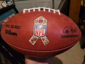 BEN ROETHLISBERGER Steelers Camo ribbon autographed/signed Duke Football