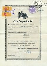1933 KONIGSBERG OSTPREUSSEN DOCUMENT WITH LITHUANIA 1 LITAS REVENUE KAUNAS