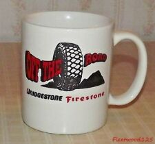 Bridgestone Firestone Coffee Cup Mug Tires Off The Road / Advertising