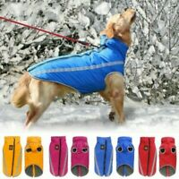 USA Reflective Fleece warm pet DOG Coat Winter Jacket Clothes Sweater Waterproof