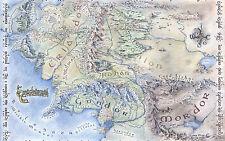 POSTER A3-Middle Earth Map (IL SIGNORE DEGLI ANELLI HOBBIT DVD Blu-Ray PICTURE ART)
