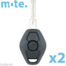 2 x BMW 3 Button Key Remote Case/Shell/Blank 3-5-7 SERIES X3 X5 Z4 E38 E39 M5 M3