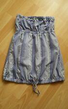 Bershka (grupo Zara) Talla L - Top Camiseta Palabra Honor -  rayas azules navy
