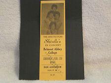 THE SHIRELLES ORG RARE FULL CONCERT TICKET FEB. 28TH,1965!..EX!