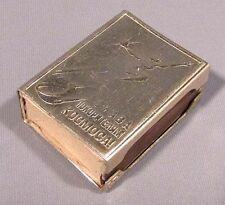 Match Box Holder Russian Space Rocket Metallic Old Vintage Tin Kitchen Gas