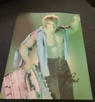 LOU FERRIGNO SIGNED 8X10 PHOTO THE HULK INCREDIBLE HULK W/COA+PROOF RARE WOW