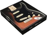 Genuine Fender Pre-Wired Strat Pickguard Tex-Mex SSS Black, 11 hole