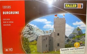Castle Ruins With Bergfried Kit 148x92x198 MM Faller 130585 H0 1:87 Boxed UB1 Μ