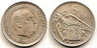 Spain-Estado Español - 5 Pesetas 1957*66 Madrid. SC/UNC. Niquel. 5,7 grs.
