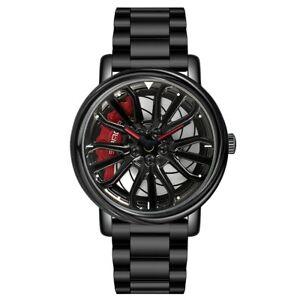 Luxury Quartz Wristwatch NEW Creative Car Wheel Sports Watch Xmas Gifts For Him
