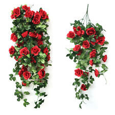 Artificial String Ivy Vine Rose Garland Flower Wedding Party Home Garden Decor