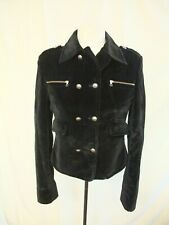 """Ladies Jacket VERSACE size Small, bust 34"""", length 21"""", black velvet fitted 0894"""