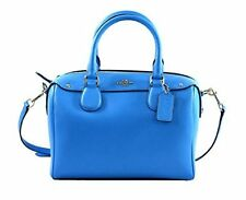♥ COACH CROSSGRAIN MINI BENNETT SATCHEL LEATHER BAG F36624 AZURE